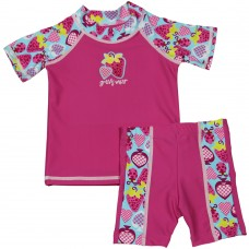 Baby Girl Rash Guard Bugz and Berries Swimwear Set
