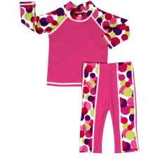 Baby Girl Rash Guard A Dot to Love Swimwear Set