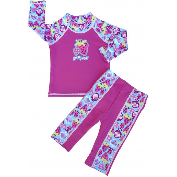 Baby Girl Rash Guard Bugz n Berries Swimwear Set
