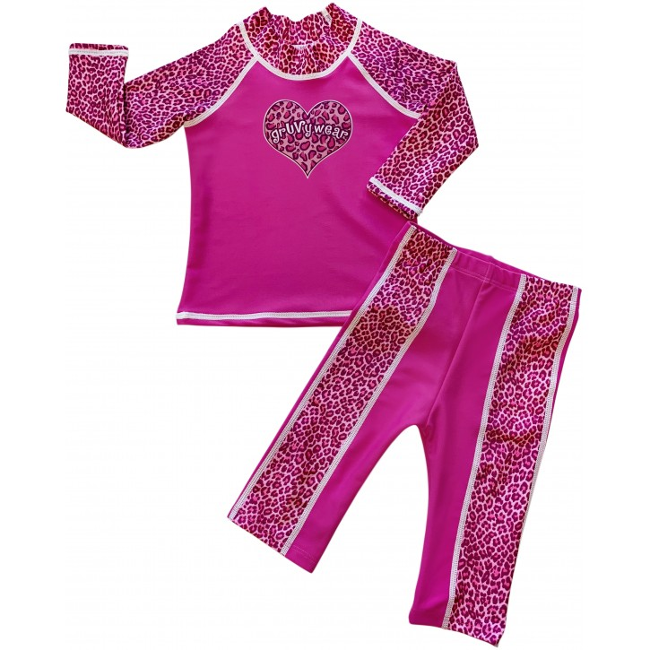 Baby Girl Rash Guard Pink Panther Swimwear Set