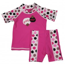 Baby Girl Rash Guard Lotsa Dots Swimwear Set