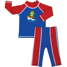 Baby Boy Rash Guard Surfer Blues Swimwear Set