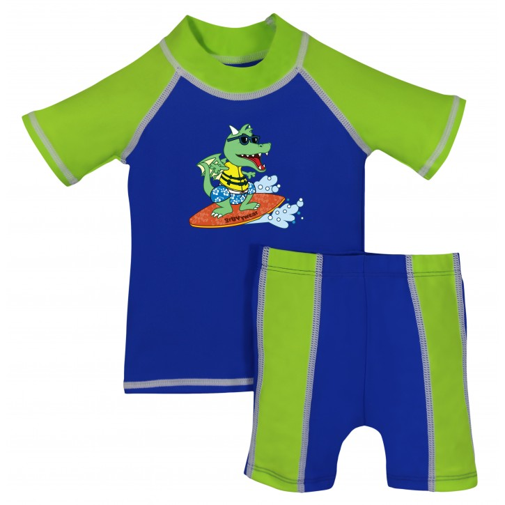 Baby Boy Rash Guard Surfs Up Swimwear Set