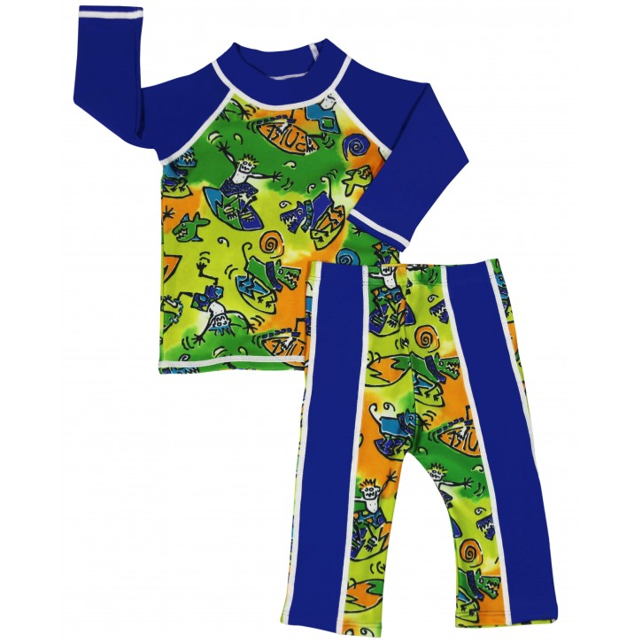Baby Boy Rash Guard Surfer Dude Swimwear Set