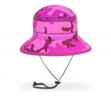 Youth Pink Camo Bucket Hat UPF 50+