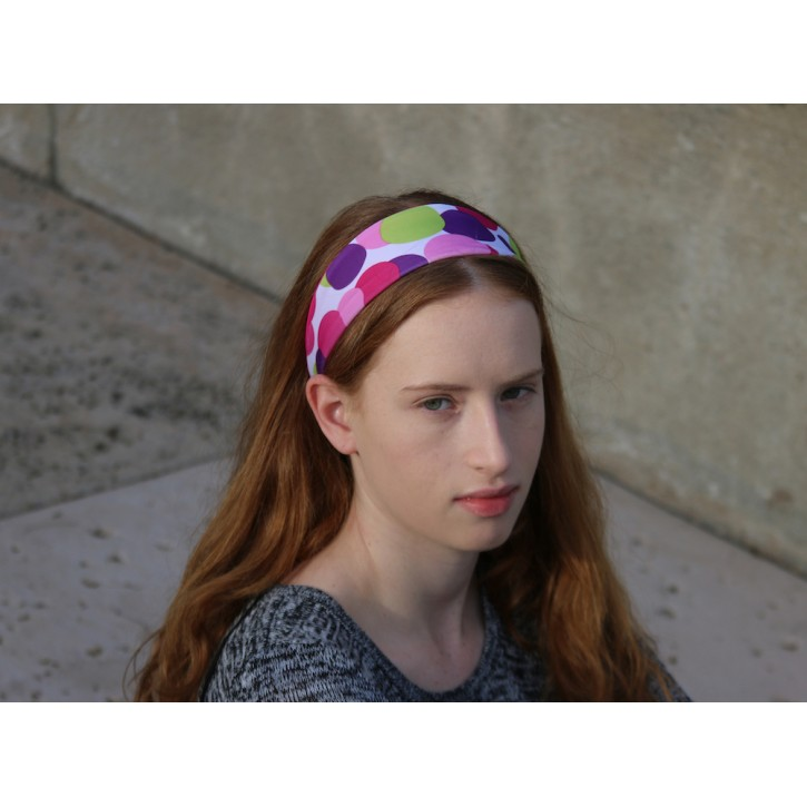 Pink Dot Reversible Headband