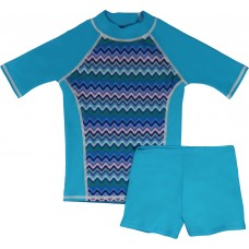 Ripple Rainbow Shirt and Short Shorts Set