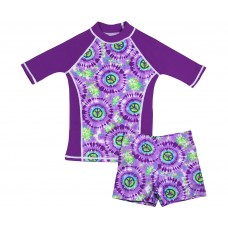 Hippy Peace Swim Shirt and Short Shorts Set