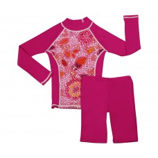 Funky Fuchsia Long Sleeve Shirt and Long Shorts Set
