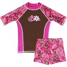Pink Paisley Shirt and Short Shorts Set