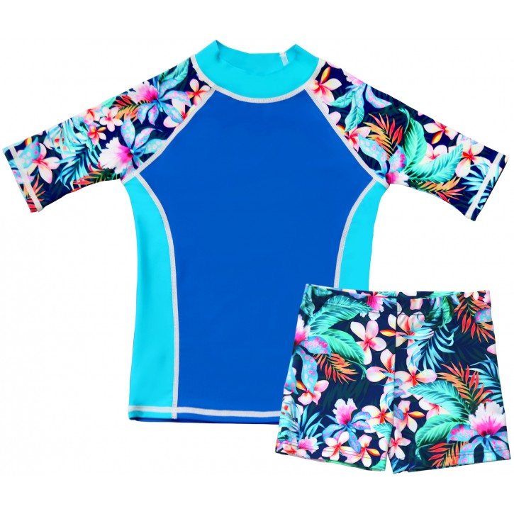Tropical Breeze Shirt and Short Shorts Set