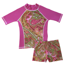 Pink Willow Swim Shirt and Short Shorts Set