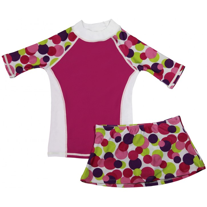 Dot to Love Swim Shirt and Skirt Set