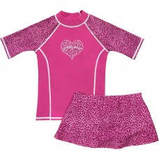 Pink Panther Swim Shirt and Skirt Set