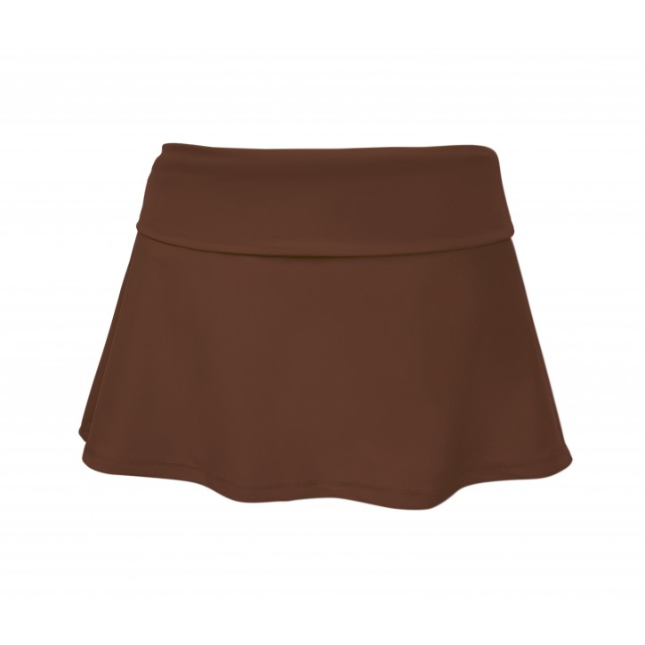 Girls Foldover Bikini Skirt - Brown