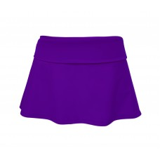 Girls Foldover Bikini Skirt - Purple