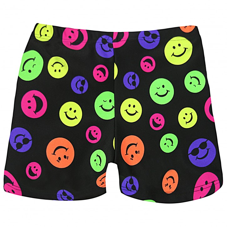 Juniors/ Woman Sport Shorts - Happy Face