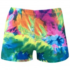 Juniors/ Woman Sport Shorts -  Psychedelic Blues