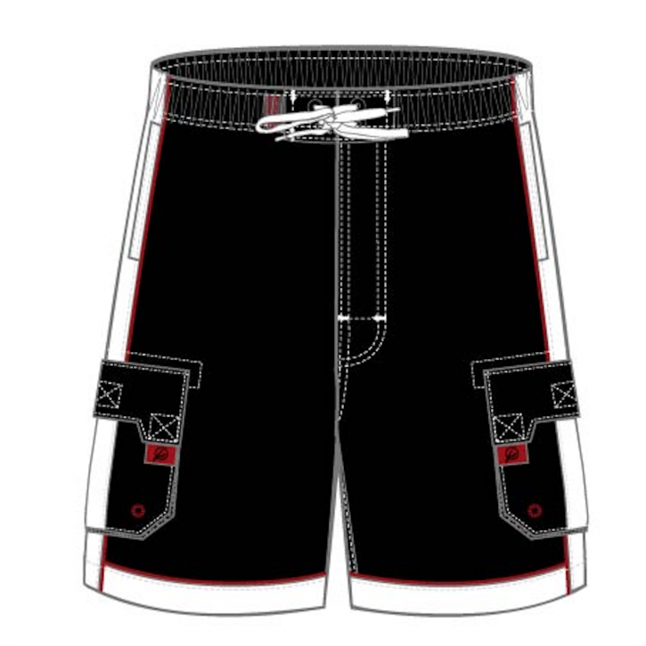 Black Microfiber Swim Trunks