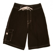 Black Microfiber Board Shorts