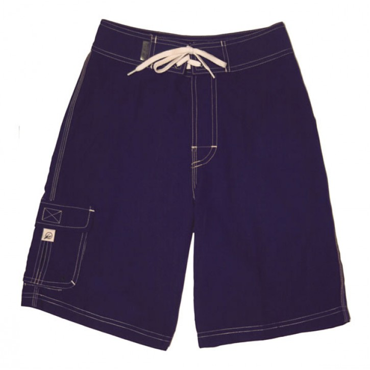 Navy Microfiber Board Shorts