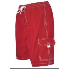 Red Microfiber Board Shorts