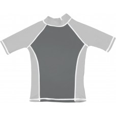 Charcoal Gray / Silver UV Short Sleeve Swim Shirt