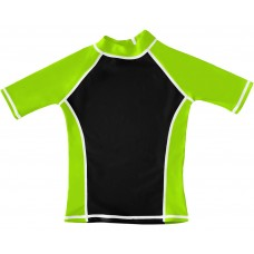 Black / Green UV Short Sleeve Swim Shirt