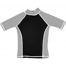 Black / Silver UV Short Sleeve Swim Shirt