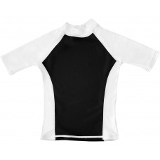 Black / White UV Short Sleeve Swim Shirt