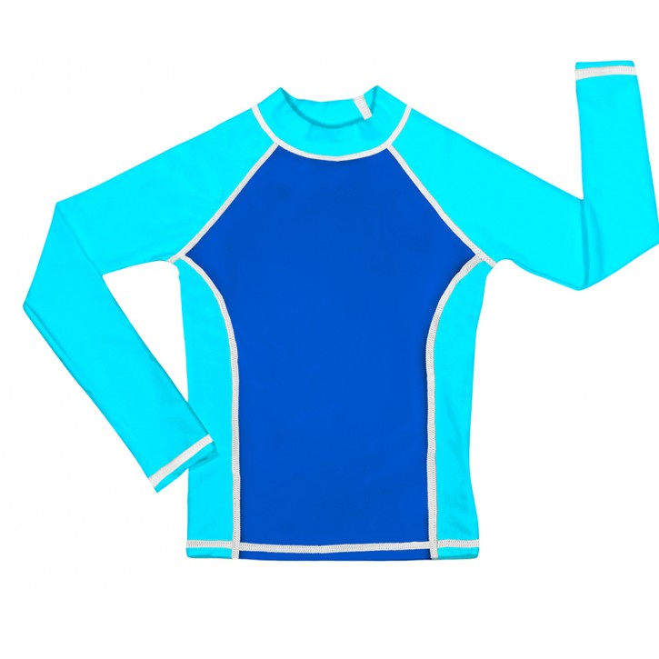 Blue / Turquoise UV Long Sleeve Swim Shirt
