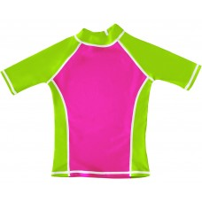 Pink / Lime UV Short Sleeve Swim Shirt