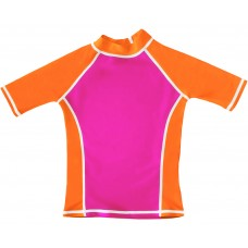 Pink / Orange UV Short Sleeve Swim Shirt