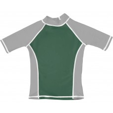 Green / Silver UV Short Sleeve Swim Shirt