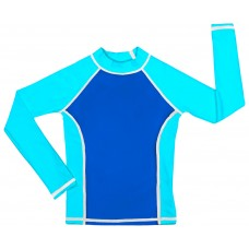 Blue /Turquoise UV Long Sleeve Swim Shirt