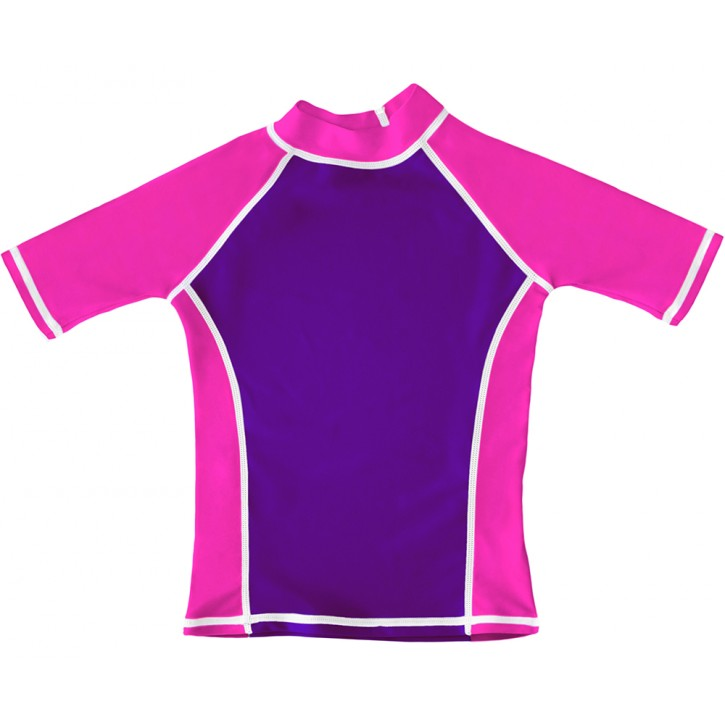 Purple / Pink UV Short Sleeve Swim Shirt