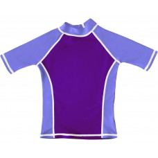 Purple UV Short Sleeve Swim Shirt