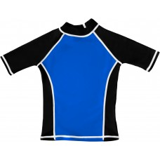 Blue / Black UV Short Sleeve Swim Shirt