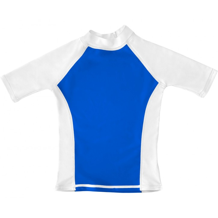 Blue / White UV Short Sleeve Swim Shirt
