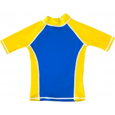 Blue / Yellow UV Short Sleeve Swim Shirt