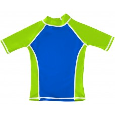 Blue / Green UV Short Sleeve Swim Shirt